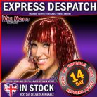70's FANCY DRESS WIG ~ TINSEL WIG RED